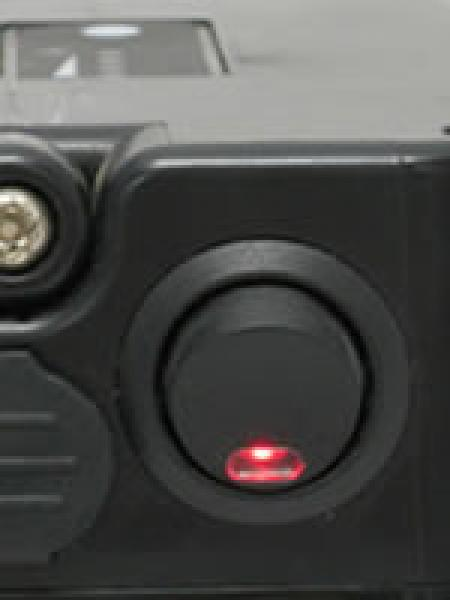 The power on/off button is set on the battery base.