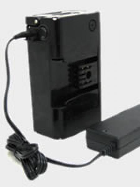 Battery can be recharged either by fastening on the bike or by itself with the provided AC adapter.