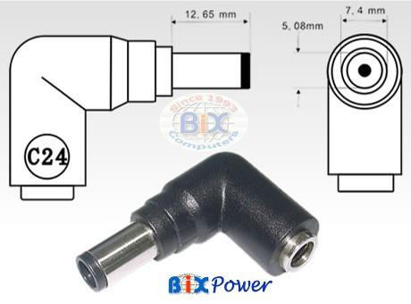 c24 hp compaq dc power connector tip male. Black Bedroom Furniture Sets. Home Design Ideas