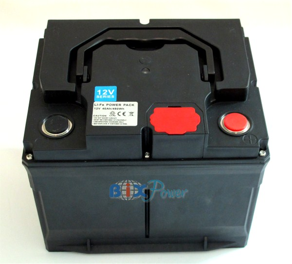 12V 40Ah LiFePO4  Lithium Battery Pack with AC Charger