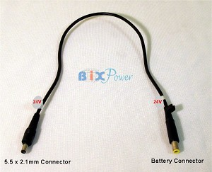 24V DC Power Output Cord for MP100 Battery